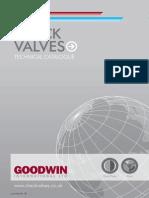 Goodwin Check Valve Technical Catalogue