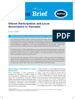 Citizen Participation and Local Governance in Tanzania
