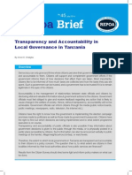 Transparency and Accountability in Local Governance in Tanzania