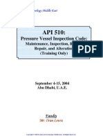 API 510 Pressure Vessel Inspection (Training Material)