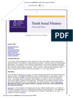 August 2014 Parish Social Ministry Newsletter