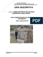 Memoria Descriptiva Vizcachayoc
