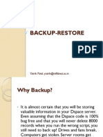 Dspace Backup Restore