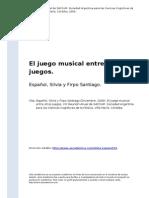 ESPAÑOL El Juego Musical Entre Otros Juegos