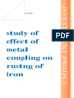 (322737428) 123307105 Effect of Metal Couon Rusting of Iron