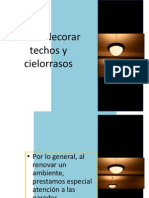 Como Decorar Techos y Cielorrasos