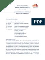 Plan de Mejora de Los Aprendizajes 2013 - Comunicación