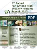 2nd Annual Pan African High Security Printing Summit 2013 MAY.3-5 JULY Charlotte