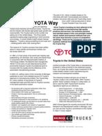 Hino and the TOYOTA Way