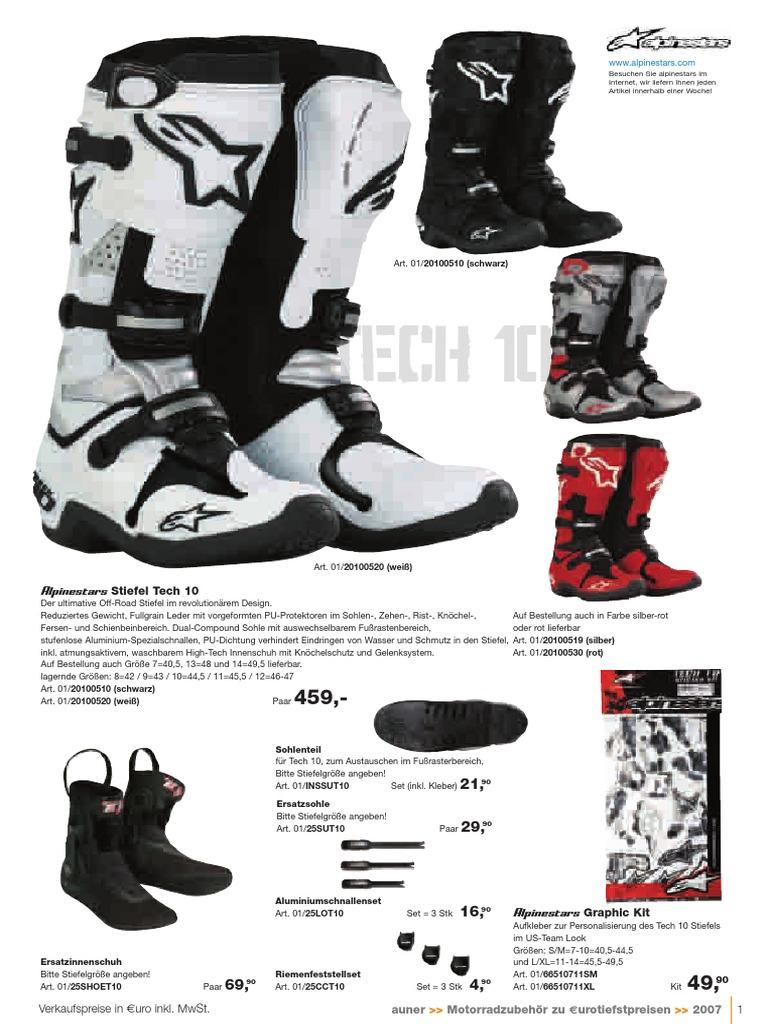ALPINESTARS ANAHEIM SHOES Black Ice White Motorrad Schuhe