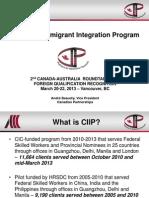 Canadian Immigrant Integration Program