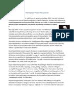 The Orgins of Project Management by Rajasekar Pandurangan
