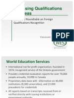 Assessing Qualifications Overseas