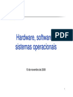 Hardware,Software e Sistemas Operacionais