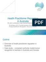 Health Practitioner Regulation in Australia