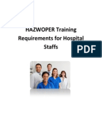 HAZWOPER Training Requirements for Hospital Staffs