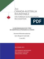 La reconnaissance des titres de compétences étrangers au Canada