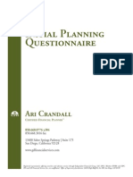 Planning Questionaire
