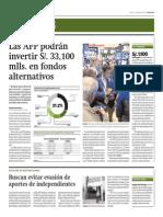 AFP Podrán Invertir 33 Millones Soles en Fondos Alternativos_Gestión 7-08-2014