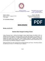 Wayne County Prosecutor News Updates July 27 - August 02, 2014