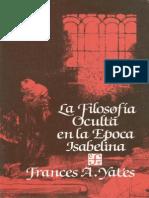 La Filosofia Oculta en La Epoca Isabelina