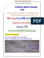 January 2014-Complete Current Affairs