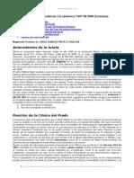 Analisis Jurisprudencial Sentencia t 327 2009 Colombia