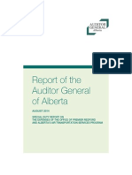 Auditor general's report on the expenses of former premier Alison Redford and Alberta's Air Transportation Services program