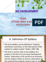 Syllabus Development Tkb