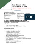 Técnicas de Armonía e Improvisación en El Jazz