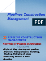 Pipelines Construction Management