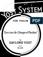 The Yost System for Violin Exercises for Changing of Position