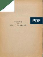 ARMINJON Pierre Et Al (1950) Traite de Droit Compare (Tome I)