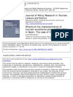 Beas Secall Lorena - Effects of the Implementation of Tourism Excellence Plans (1992-2006) in Spain. the Case of Catalan Coast