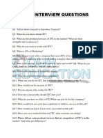 Itc Ltd Interview Questions