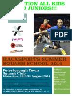 Squash Summer Camp Summer Camp 2014