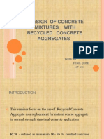 Design of Concrete Mixtures With Recycled Concrete