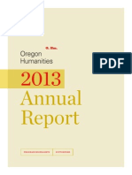 2013 Oregon Humanities Annual Report