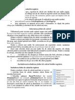 2. Selectarea Foilor de Calcul