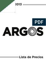 Precios Argos Enero 2013
