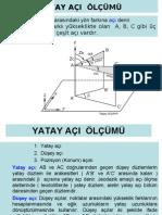 Yatay Aci Olcumu