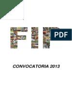 Bases Convocatoria 20131