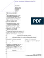 14-08-07 Samsung Filing on Office Action in Reexamination of Apple's '172 Patent