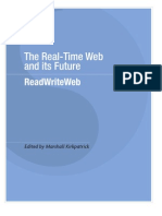 The Real-Time Web and Its Future