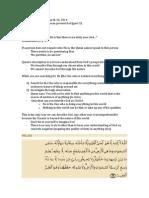 2014-03-26-halaqa notes-blind faith