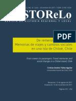 De Remeros a Pasajeros-Memorias de Viajes y Cambios Sociales en Una Isla de Chiloé, Chile - Historelo (2011)