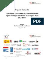 Estrategias y Lineamientos para un Desarrollo Regional Integral e Inclusivo en la Región Piura 2015-2018