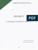 Exemplu de proiectare structura din beton armat cu pereti cuplati