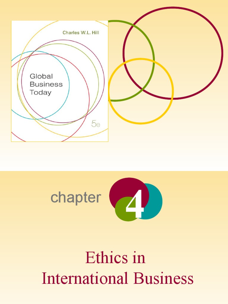ethics in international business pdf