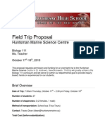 Field Trip Proposal - Sample #1